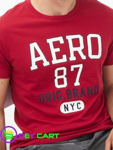 Aeropostale Original Brand Logo Graphic Tee - Cerise Red