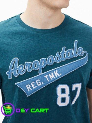 Aeropostale Trademark Logo Graphic Tee - Blue Coral