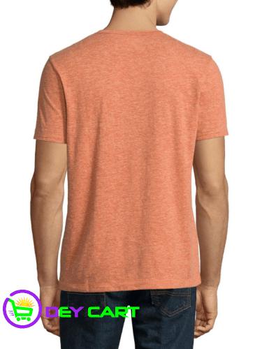 Arizona Short Sleeve Henley Shirt - Copper Brown 1
