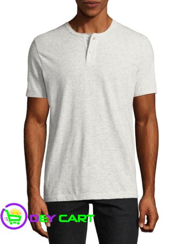 Arizona Short Sleeve Henley Shirt - Oatmeal