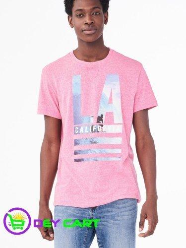 Aeropostale LA Surf Graphic Tee - Gala Pink 0