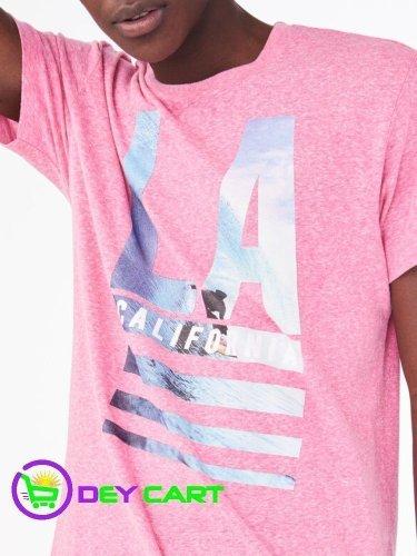 Aeropostale LA Surf Graphic Tee - Gala Pink