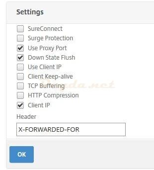NetScaler X-Forwarded-For