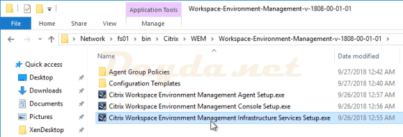 WEM Instalation Files