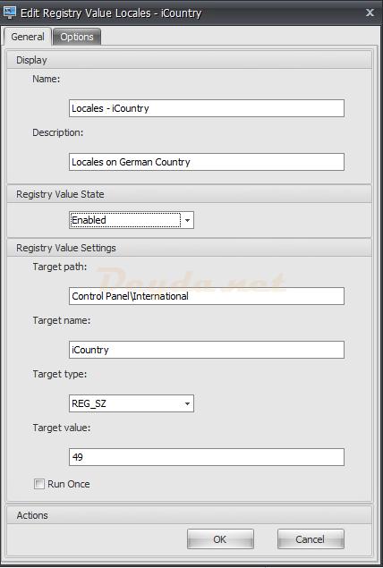 Registry Entries General