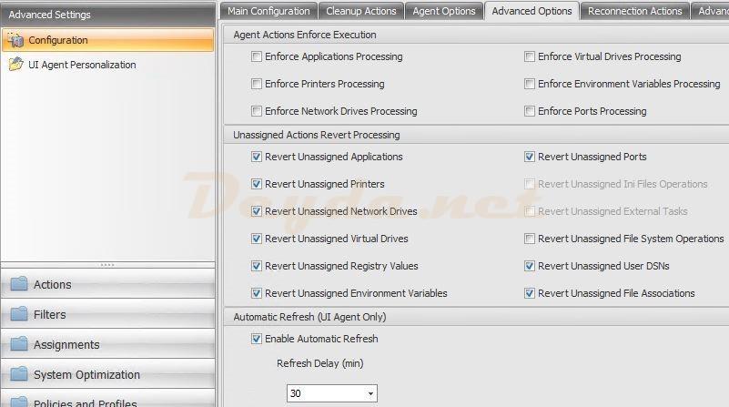 Advanced Settings Configuration Advanced Options