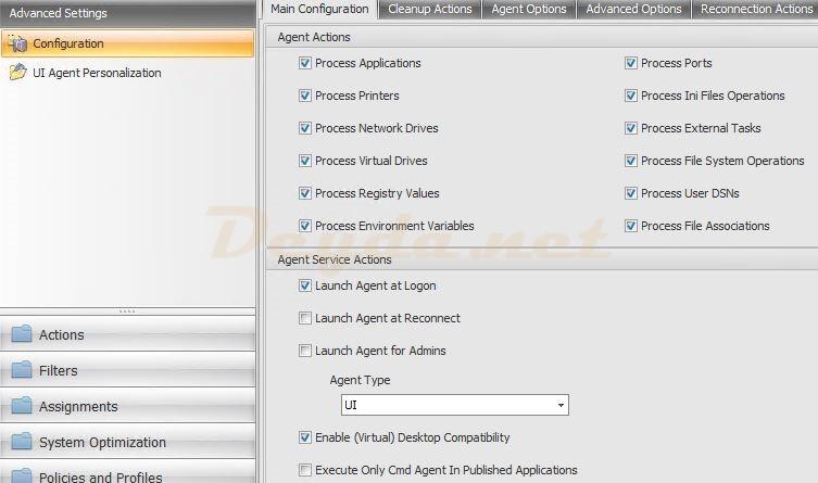 Advanced Settings Configuration Main Configuration