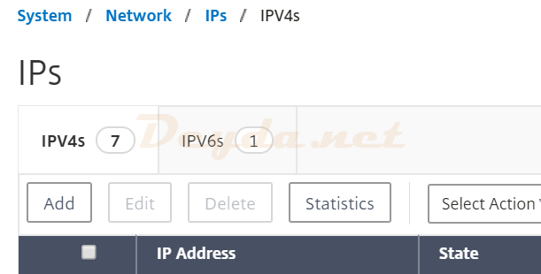 System Network IPs IPV4s