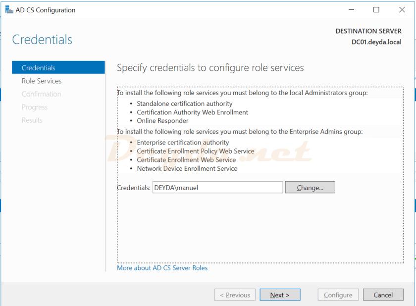 AD CS Configurations Credentials