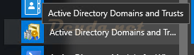 Active Directory Domains and Trusts