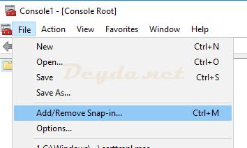 Add Remove Snap-in