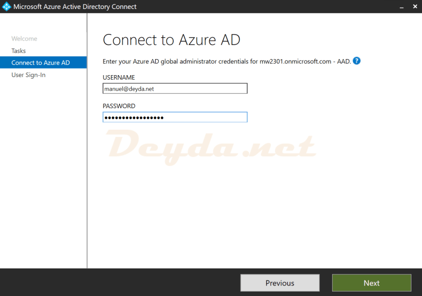 Connect to Azure AD Global Administrator