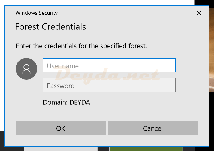 Forest Credentials Domain