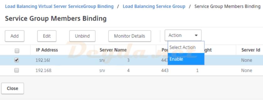 LoadBalancing Delivery Cotntroller XML Service