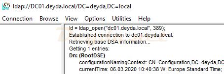 Connect ldap