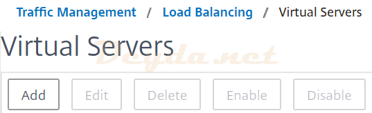 Traffic Management Load Balancing Virtual Servers