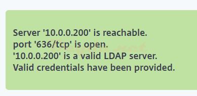 Server is reachable port 636/tcp