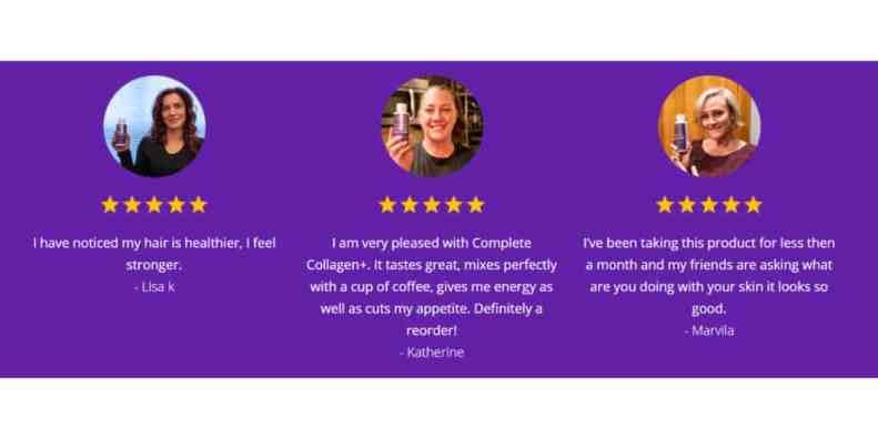 Complete Collagen Plus customer reviews