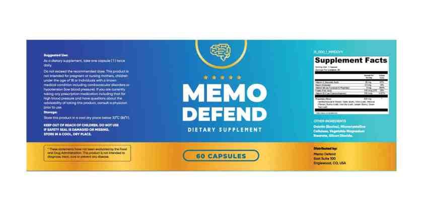 Memo Defend Dosage