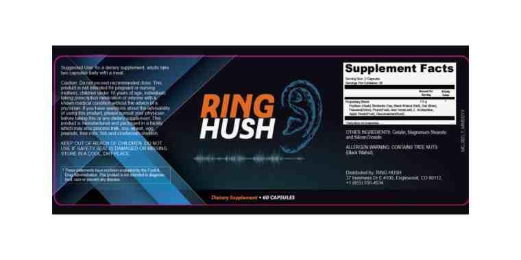RingHush supplements dosage