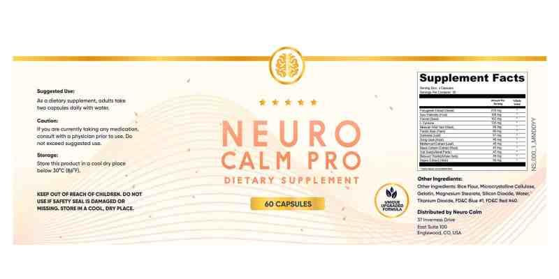 Neurocalm Pro Dosage