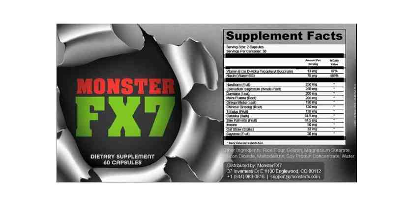 MonsterFX7 Reviews Dosage