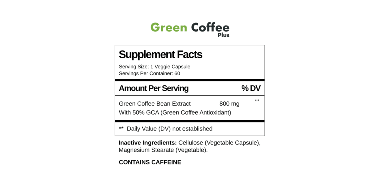 Green coffee plus supplement facts