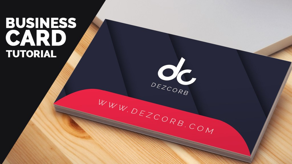 business card design tutorial [Free PSD]