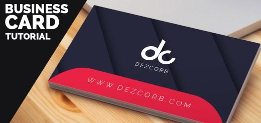 business card design tutorial [Free PSD]