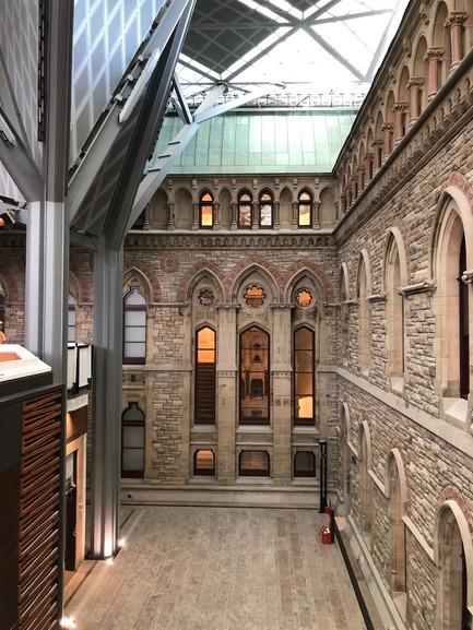 Press kit   612-13 - Press release   EVOQ's Ottawa Office Continues its Growth - EVOQ Architecture - Institutional Architecture - West Block - interior courtyard - Photo credit: EVOQ