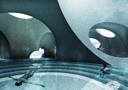 Press kit   2255-01 - Press release   Liepāja Thermal Bath receives 2016 AAP American Architecture Prize - Steven Christensen Architecture - Institutional Architecture - Interior View, Tepidarium - Photo credit: Steven Christensen Architecture