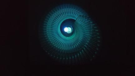 Press kit   2121-06 - Press release   Seismic Electromagnetic Induction LED - Margot Krasojević Architects - Lighting Design - Plan view of 3d printed reverberation net - Photo credit: Margot Krasojević