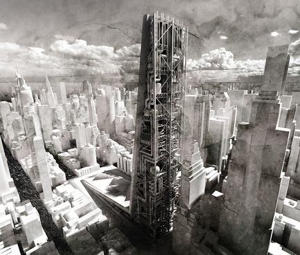 Press kit | 1127-13 - Press release | Winners 2017 eVolo Skyscraper Competition - eVolo Magazine - Competition - Sustainable Urban Mining Factory Skyscraper - honorable mention - Photo credit: Maciej Kasperek