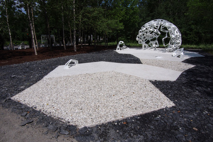 Press kit   837-08 - Press release   The Gardens of the 15th International Garden Festival seduce visitors - International Garden Festival / Reford Gardens - Event + Exhibition -       MÉRISTÈME by&nbsp;Châssi [Marie-Josée Gagnon, Caroline Magar, François Leblanc]<br>Montréal (Québec) Canada<br><br>A macroscopic structural representation of plant cell systems reminds us of the significant role of plant biodiversity in ensuring the future of human society.<br>       - Photo credit: Louise Tanguay