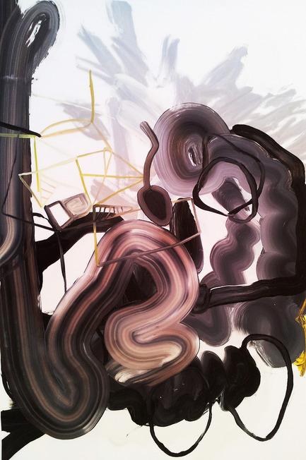 Press kit | 1134-01 - Press release | Papier14 - Contemporary Art Fair of Works on Paper - The Contemporary Art Galleries Association (AGAC) - Event + Exhibition - Jennifer LefortConverging signs (Black and White), 2014huile sur papier mylar, 60 x 91 cmPatrick Mikhail Gallery (Ottawa) - kiosque #307
