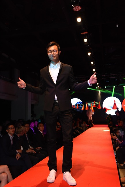 Press kit   2188-01 - Press release   Red Dot Award: Design Concept 2016 Results - Red Dot Award: Design Concept - Industrial Design - Taiwanese designer representing Fo Guang University on the runway for Red Dot winning concept X Cones - Photo credit: Red Dot Award: Design Concept