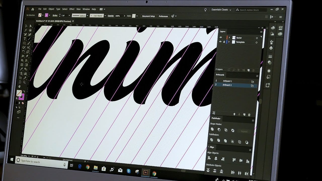How To VECTORISE Your Logo Lettering  – Graphic Designer