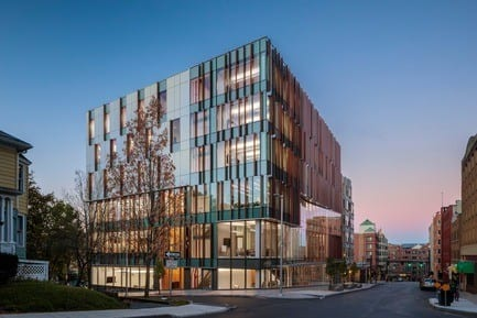 Press kit - Press release - The Breazzano Family Center Blazes a Trail for Academic Development in Collegetown - ikon.5 architects