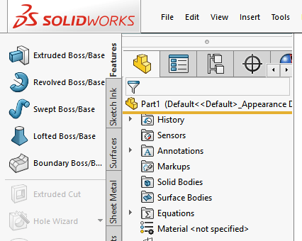 Setting Up the SolidWorks Interface: Part 1