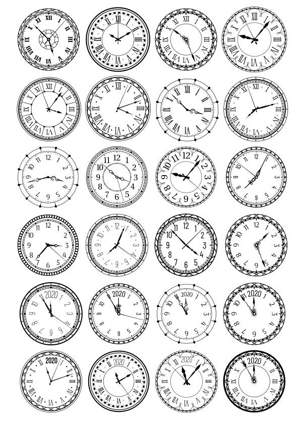 Clocks Vector Set CDR File