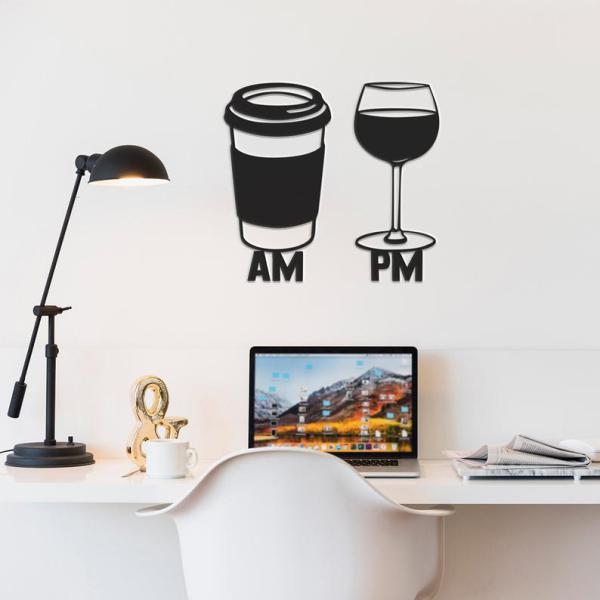 Am Pm Sign Metal Wall Art, Metal Wall Decor,Coffee Bar Decor