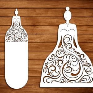 Laser Cut Wedding Cut File 3 Free SVG Vector