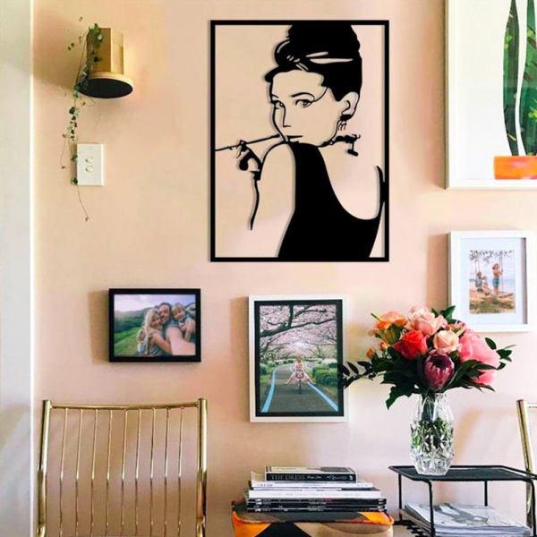 Audrey Hepburn Metal Wall Art, Celebrity Metal Wall Decor