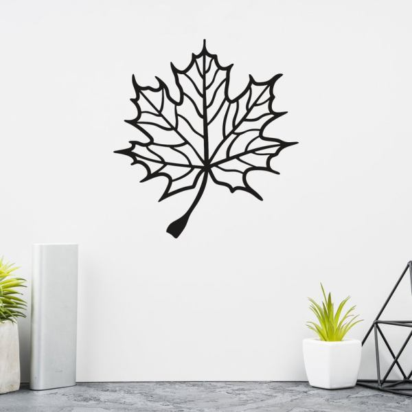 Autumn Leaf Metal Wall Art, Metal Wall Sign, Metal Decor