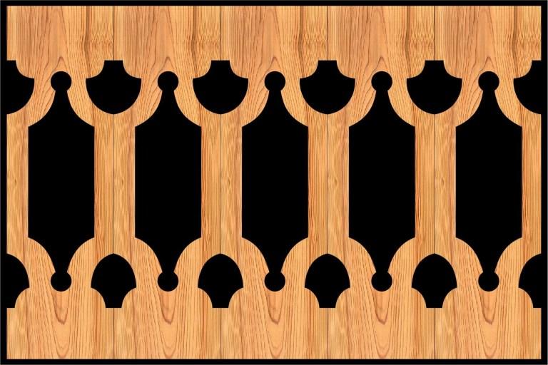 Decorative Baluster Railing 26 Pattern PDF File