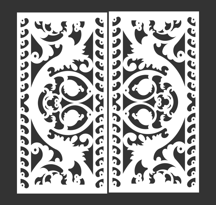 Decorative Screen Panel 03 CDR DXF Laser Cut Free Vector