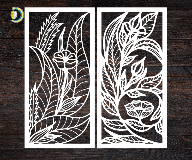 Decorative Screen Panel 15 CDR DXF Laser Cut Free Vector