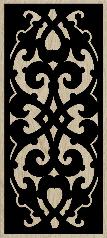 Decorative Slotted Panel 165 Pattern PDF File