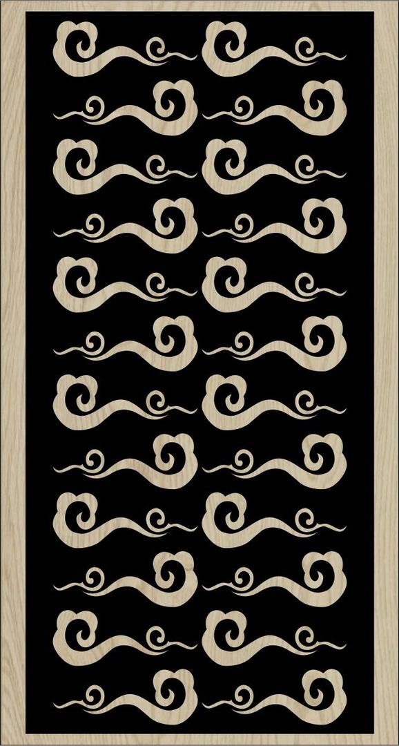 Decorative Slotted Panel 54 Pattern PDF File