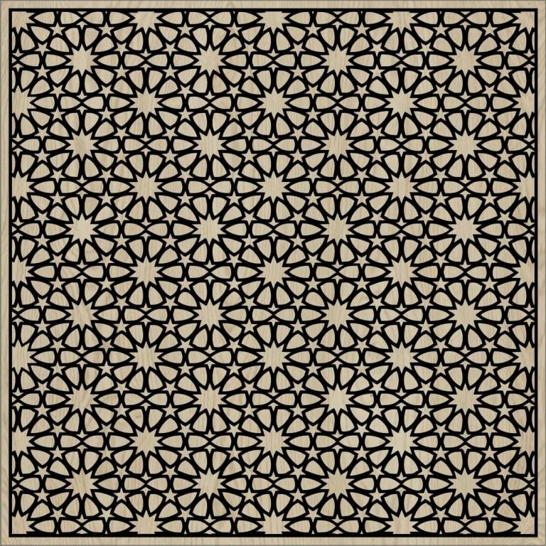 Decorative Slotted Panel 04 Pattern PDF File